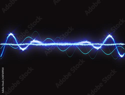 Blue Sound Wave 4K - 287619130