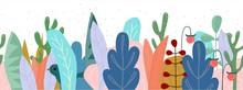 Vector Seamless Floral Border ...