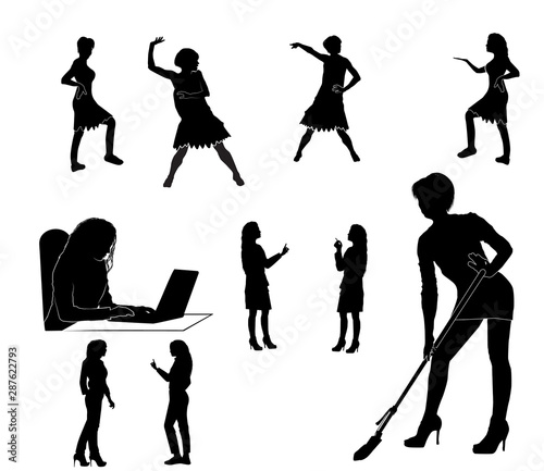 female figures set Canvas-taulu