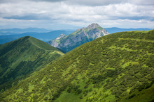 Slovakia Mountain From Peak Chleb. The Way To The Top Of The Summit Chleb In Fatra Mountains