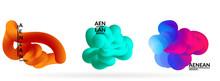 Fluid Bright Color Badge Set