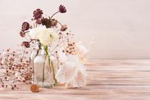 White Ranunculus And Hydrangea...