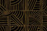 Ręcznie rysowane geometryczny wzór. Streszczenie tło z poziomymi, ukośnymi i pionowymi liniami, półkolami. Graficzna ilustracja - 287630114