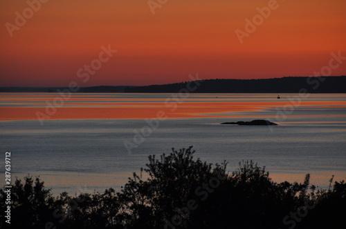 Sunrise Casco Bay, Eastern Promenade, Munjoy Hill, East End, Portland, Maine