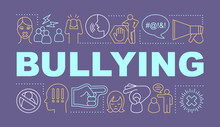 Bullying Word Concepts Banner....