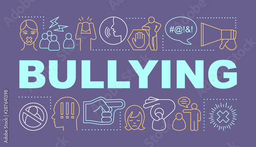 Bullying word concepts banner Canvas Print