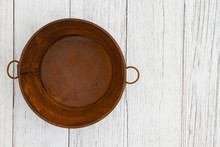 Rusted Tin Pail On Weathered W...