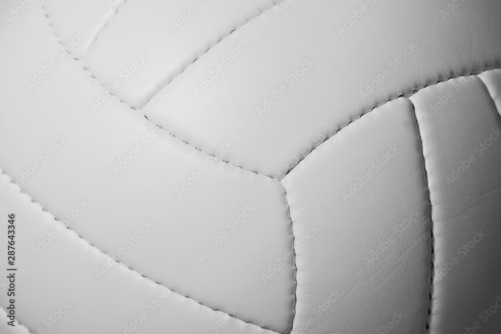 Fototapety, obrazy: Closeup detail of volleyball ball texture background
