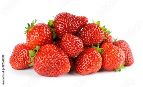 Cuadros en Lienzo Strawberry fruit on white