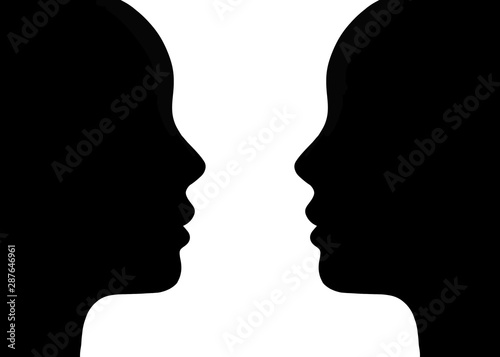 Fotografía  silhouette of man and woman