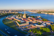 View From The Drone Of The Peter And Paul Fortress, St. Petersburg