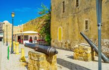Vintage Cannons At Ksibah Fortress, Bizerte, Tunisia