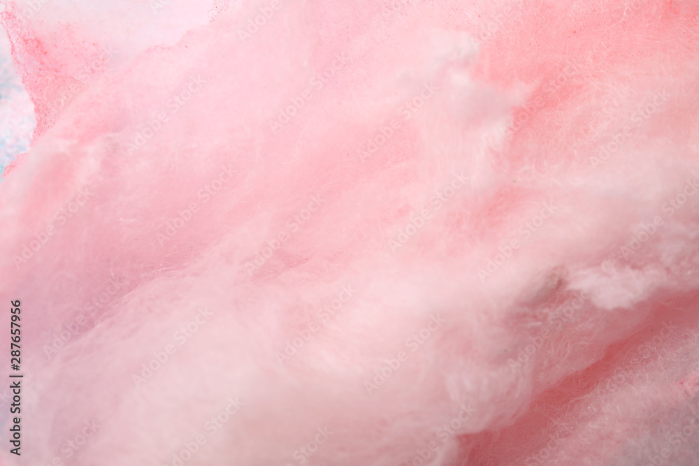 Fototapety, obrazy: Sweet pink cotton candy as background, closeup view