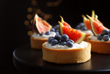 Tarts With Blueberries And Fig...