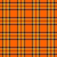 Halloween Tartan Plaid. Pattern Scottish Cage
