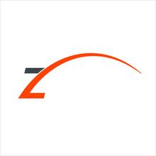 Letter Z Logo. Swoosh Symbol. Icon Vector Eps 10.