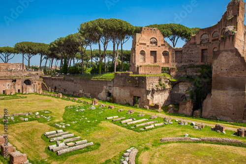 Valokuva  The Stadium of Domitian on the Palatine Hill in Rome