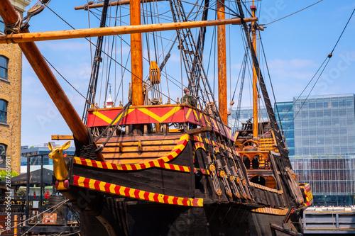 Slika na platnu The replica of the Golden Hinde, the UK' famous ship