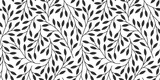 Elegant floral seamless pattern with tree branches. Vector organic background. - 287670752