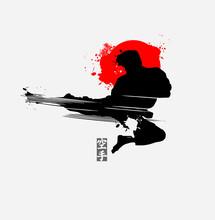Martial Arts Silhouette Charac...