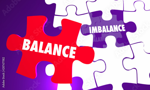 Obraz na plátne  Balance Vs Imbalance Puzzle Equal Fair Treatment 3d Illustration