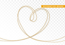 String Beads Realistic Isolated