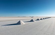 Salt Pyramids In The Salt Indu...