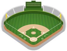 野球場のイメージイラスト