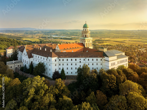 Pannonhalma Abbey in hungary. High school, landmark, faith Canvas Print