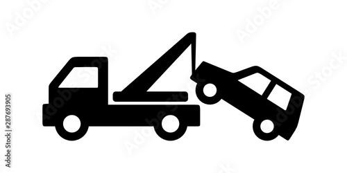 Fototapeta auto pomoc - holowanie samochodu obraz