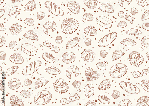 bakery seamless background