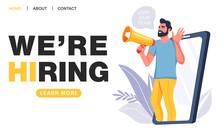 We Are Hiring Concept. Recruit...