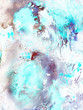Abstract background, hand-painted texture, watercolor painting, splashes, drops of paint, paint smears. Design for backgrounds, wallpapers, covers and packaging.