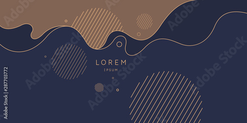 Obraz Poster with dynamic waves. Vector illustration in minimal style. Abstract background. - fototapety do salonu