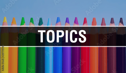Fototapeta  topics concept with education and back to school concept