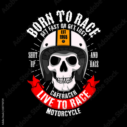 Trendy Racer Slogan for T-shirt design Fototapeta