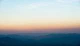 mountain minimalism, sunset over the mountains, landscape background panorama - 287710926