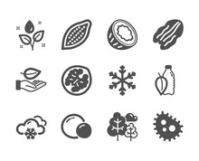 Set Of Nature Icons, Such As L...