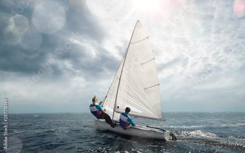 Obraz na płótnie Sailing yacht race. Yachting. Sailing regatta.