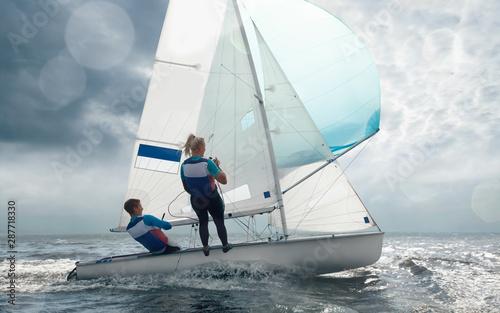 fototapeta na lodówkę Sailing yacht race. Yachting. Sailing regatta.