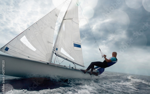 Fototapeta Sailing yacht race. Yachting. Sailing regatta.