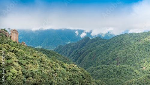 Fototapeta Sanqing mountains in shangrao city, jiangxi province, China obraz na płótnie