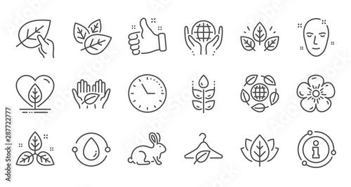 Carta da parati  Organic cosmetics line icons