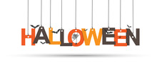 Halloween Inscription Of Color...