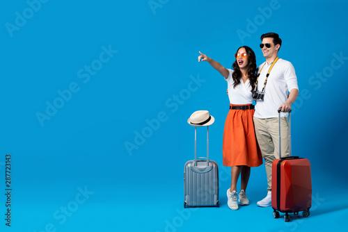 Tourist couple enjoying their summer vacation
