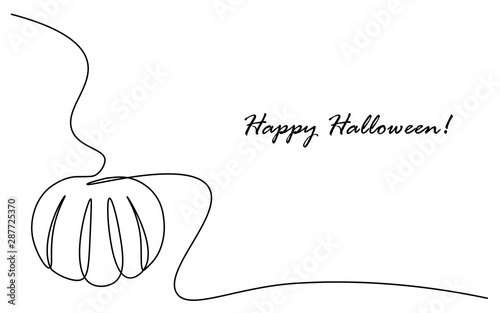 Fototapeta Happy halloween card vector illustration obraz na płótnie