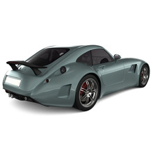 Generic Classic Sports Car Isolated Photorealistic 3D Illustration - Back View.
