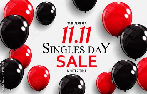 Fotografia  November 11 Singles Day Sale. Vector Illustration