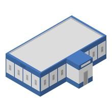 Milk Factory Building Icon. Isometric Of Milk Factory Building Vector Icon For Web Design Isolated On White Background