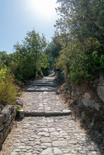 Paved Alley That Goes Up To The Village Oppéde Le Vieux Village In Provence Luberon France